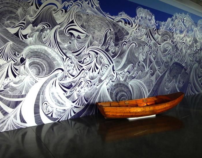 Граффити Encounter of Waters, совместное творчество художницы Sandra Cinto и 20 волонтеров