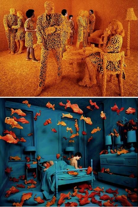 Удивительные сюрреалистические инсталляции, выстроенные для фотографий Sandy Skoglund