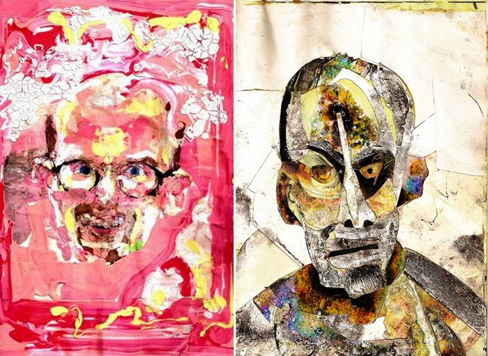 Самовосприятие сознанием, измененным действием метамфетамина (слева) и морфина (справа)