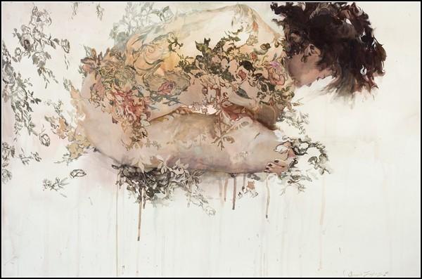 Обнаженные дамы, покрытые розами. Серия картин Painted Roses