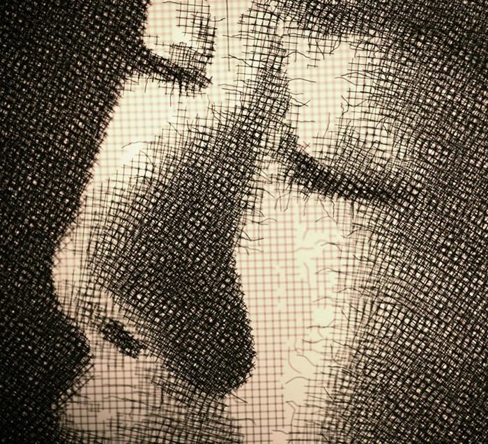 Картины из листов стальной проволоки