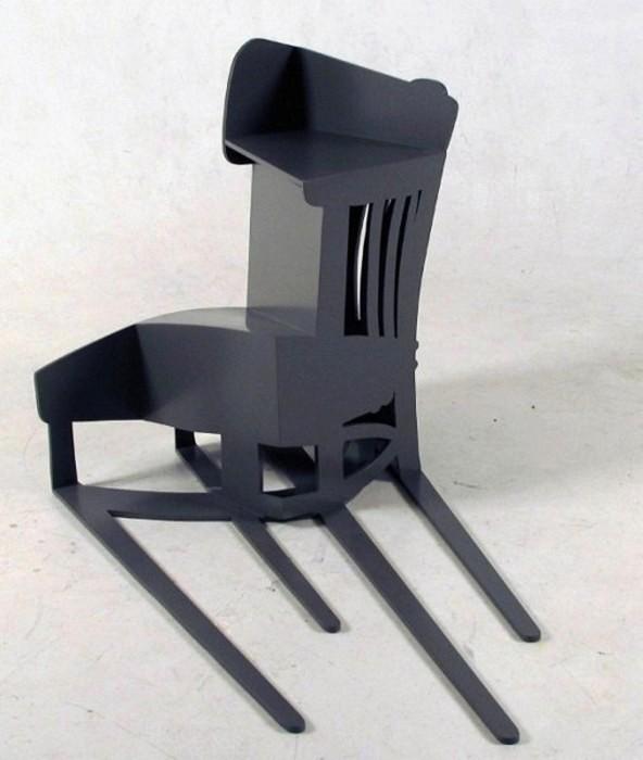 Shadow Construction, деформированная тень от офисного стула