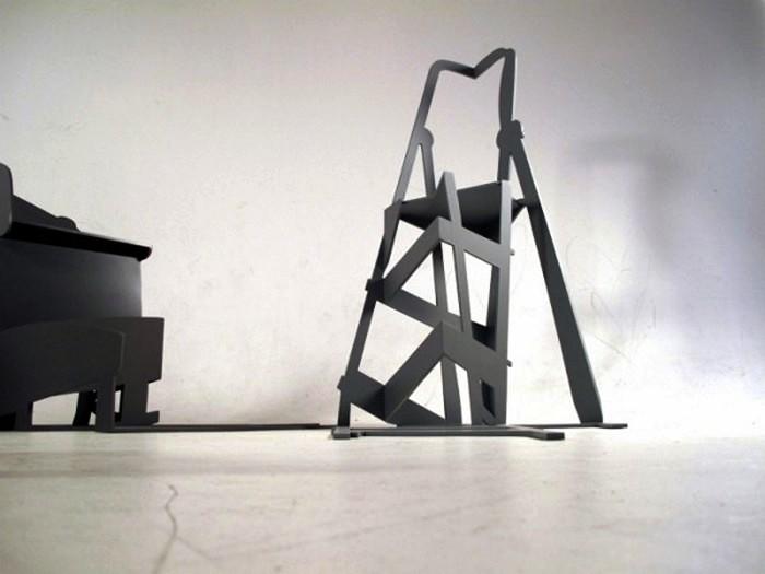 Так выглядит стремянка в арт-проекте Shadow Construction