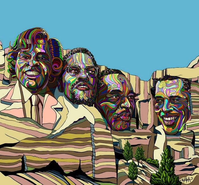 Скульптура плюс живопись равно трехмерные картины от Marchal Mithouard