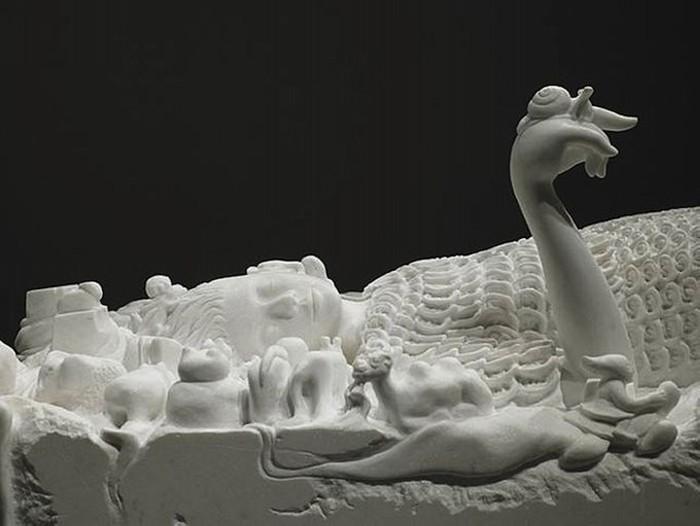 White Dream, удивительная мраморная скульптура Shinichi Hara