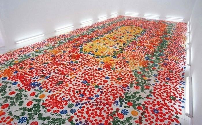 Echoes-Infinity. Цветочная инсталляция Shinji Ohmaki