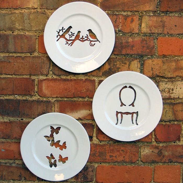 Silhouette Wall Plates, декоративные резные блюда Andrew Tanner