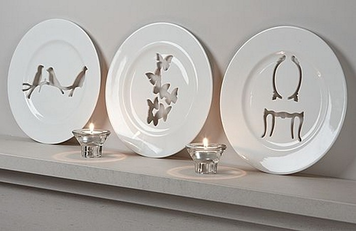 Silhouette Wall Plates, декоративные резные блюда от Andrew Tanner