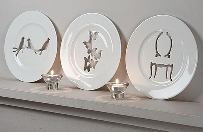 Silhouette Wall Plates, декоративные резные блюда от Andrew Tanner