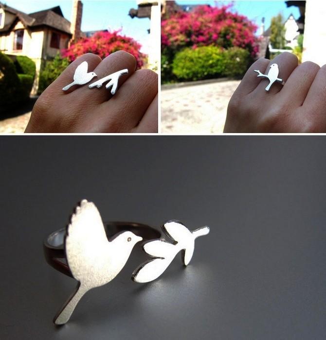 Птицы - это легкость и свобода. Простые и стильные кольца от SmilingSilverSmith