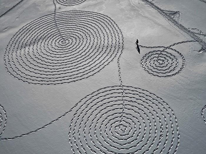 Удивительные снежные рисунки Сони Хинричсен (Sonja Hinrichsen)