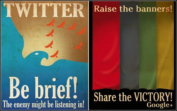 Social Media Propaganda Poster: социальные сети в виде постеров