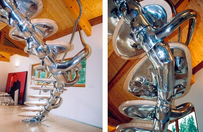 Лестница-позвоночник Spinal Staircase для частного клиента из Франции
