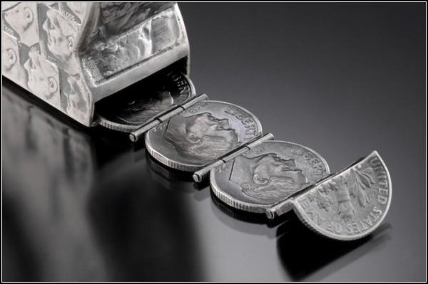 Инструменты из денег. Скульптуры из монет от Стейси Ли Веббер (Stacey Lee Webber)