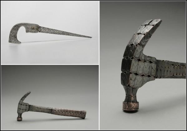 Молоток и ножовка из монет от Стейси Ли Веббер (Stacey Lee Webber)