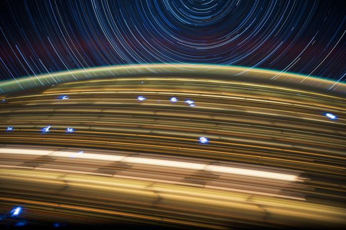 Космические фотографии Дона Петтита из серии Star Trails