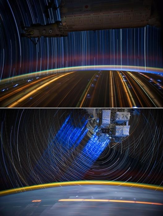 Звездные следы в фотографиях астронавта Дона Петтита из серии Star Trails