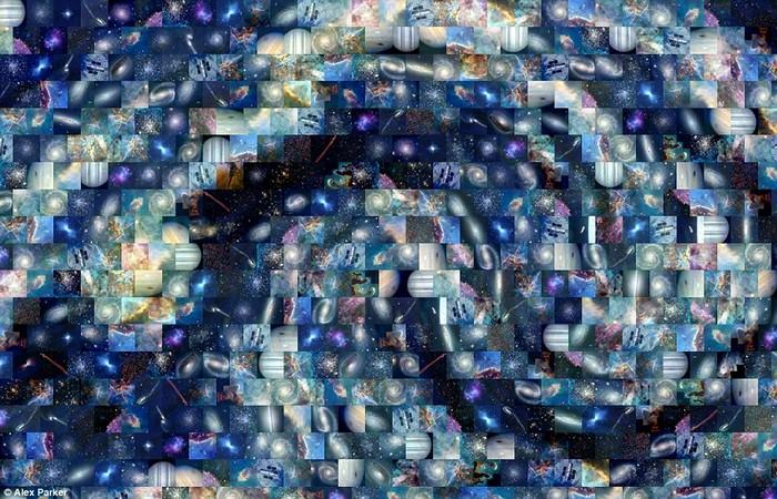 Starry Night Ван Гога из снимков космического телескопа *Хаббл*