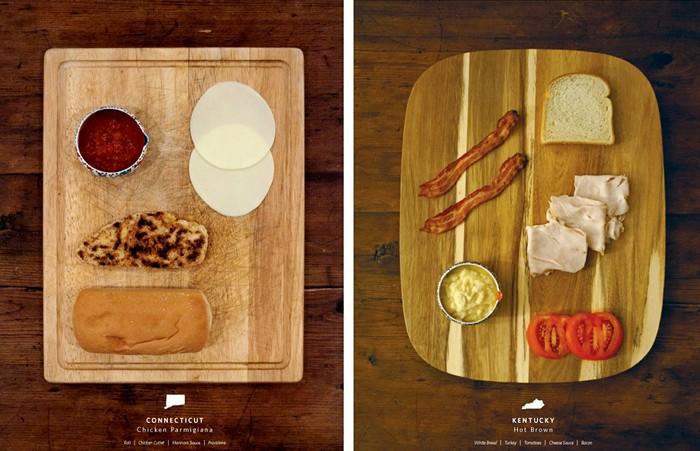 Арт-проект Stately Sandwiches. Посвящается сэндвичам и США