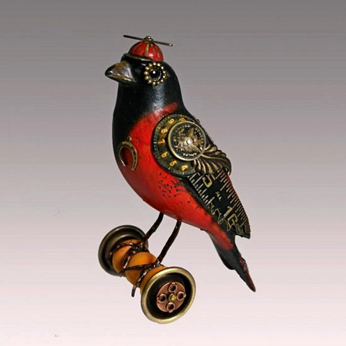Птицы в стиле стимпанк от Джима и Тори Муллан
