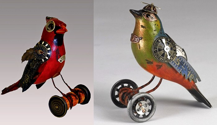 Птицы в стиле стимпанк от студии Mullanium