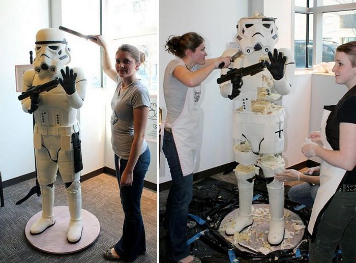 Штурмовик (Stormtrooper) в виде торта высотой около 180 см.