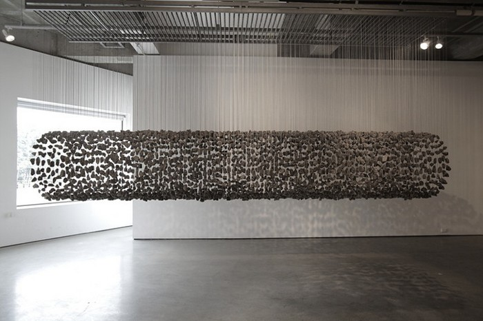 Скульптурные инсталляции из камней от Jaehyo Lee