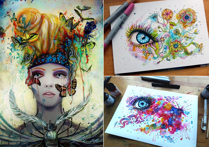Глаза и лица. Чудесные акварели от Свеньи Йодике (Svenja Jodicke)