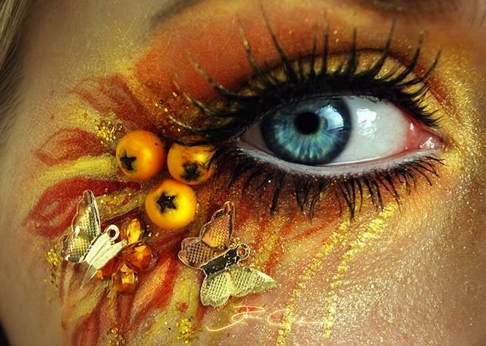Фантастический макияж в виде боди-арта от Svenja Schmitt