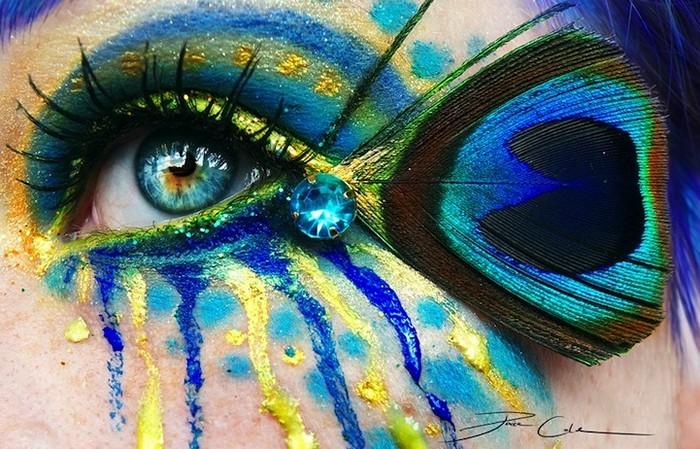 Фантастический макияж в виде боди-арта от Svenja Jodicke