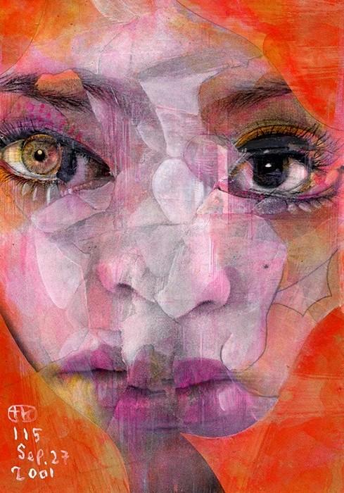 Broken Faces, эмоциональная живопись от Takahiro Kimura