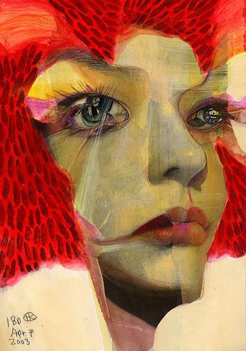 Покрытые трещинками портреты Broken Faces от Takahiro Kimura