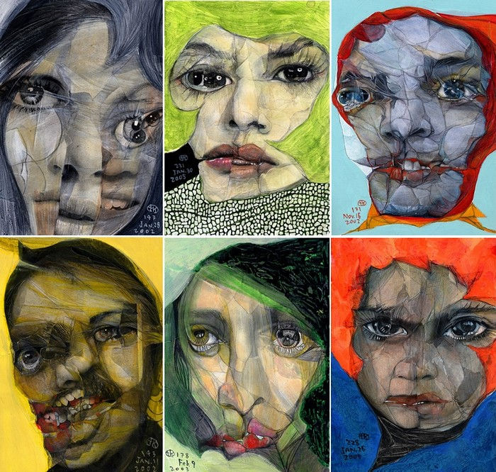Broken Faces. Философско-мистическая серия картин Takahiro Kimura