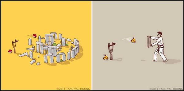 Минималистичные юмористические иллюстрации Танг Яу Хунга (Tang Yau Hoong)
