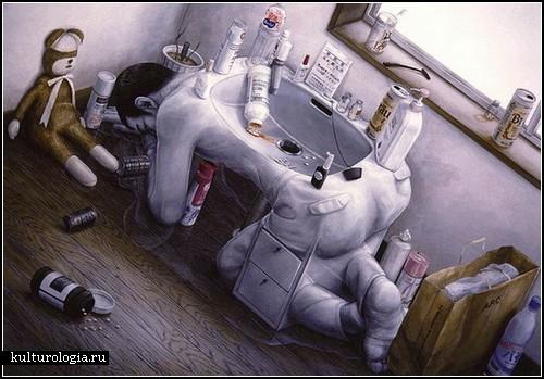 Сюрреализм японского автора Тетсуя Ишида (Tetsuya Ishida)