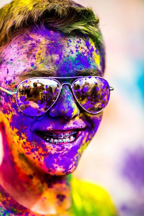 Holi Festival of Colors в красочных портретах Томаса Хока (Thomas Hawk)