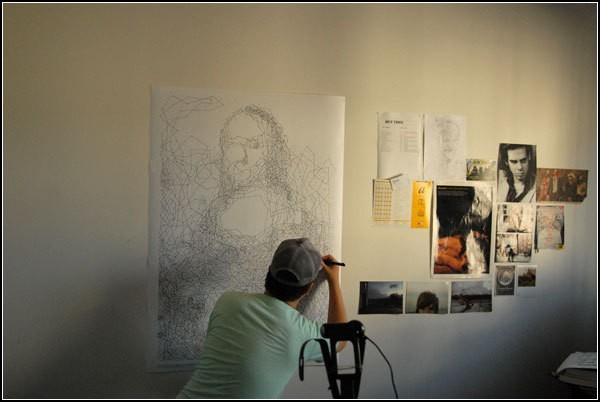 Mona Lisa.dot. Портрет Джоконды из 6239 точек