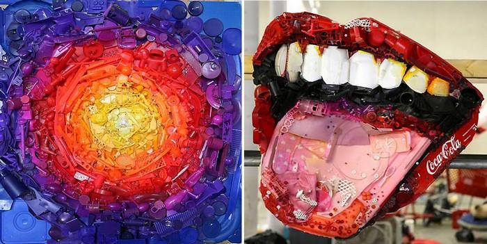 Trash art. Картины из мусора от Тома Дейнингера (Tom Deininger)
