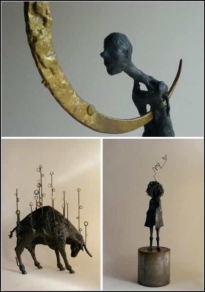 Скульптуры из металла и стальной проволоки