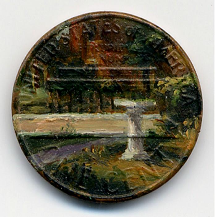 Tondi Observations, картины маслом на поверхности центов