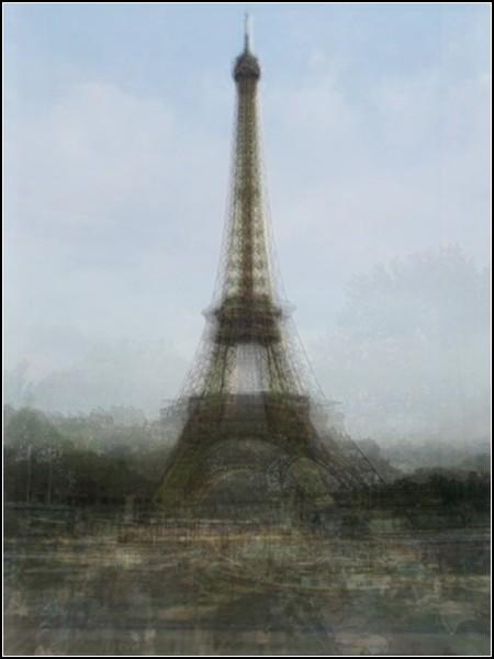 Париж, Эйфелева башня. Туристический сюрреализм от Коринн Вайоннет (Corinne Vionnet)