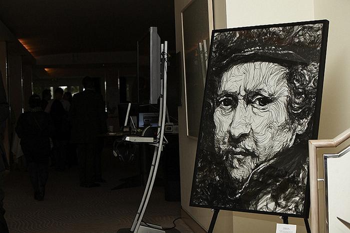 Портрет Рембрандта, нарисованный тюлем