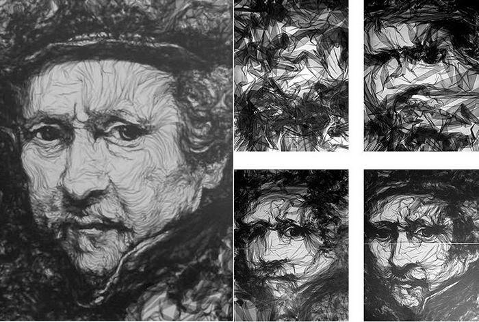 Рембрандт. Портрет из тюля, творчество Бенджамина Шайна