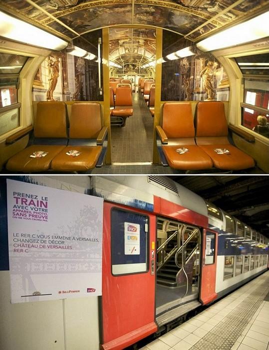 Арт-проект Chateau de Versailles train. Парижский электропоезд для королей и королев