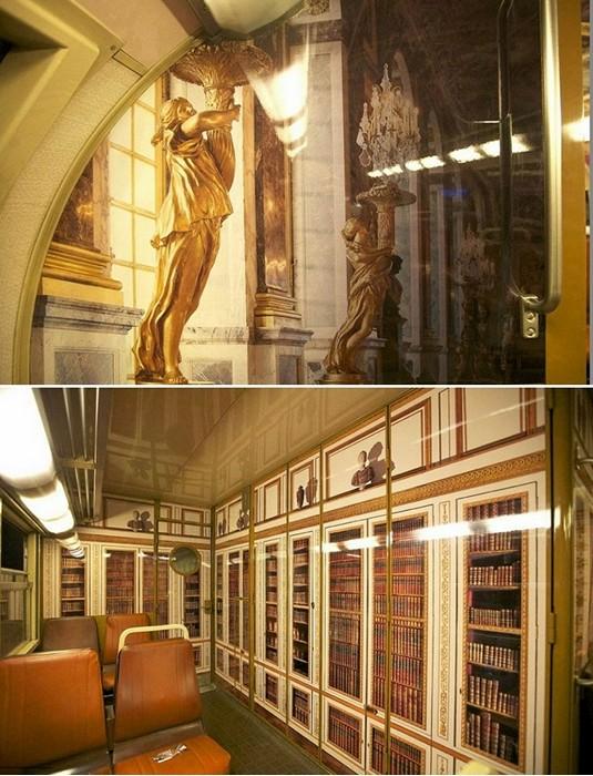 Chateau de Versailles train: арт-проект компании Encore Eux Agency для парижской электрички