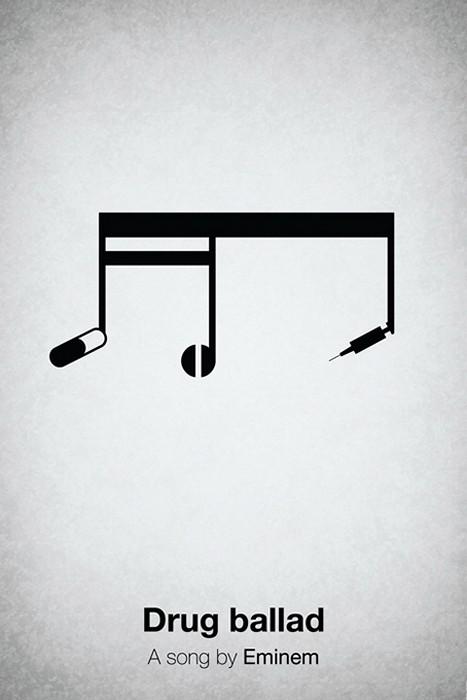 Pictogram music posters, коротко о музыке