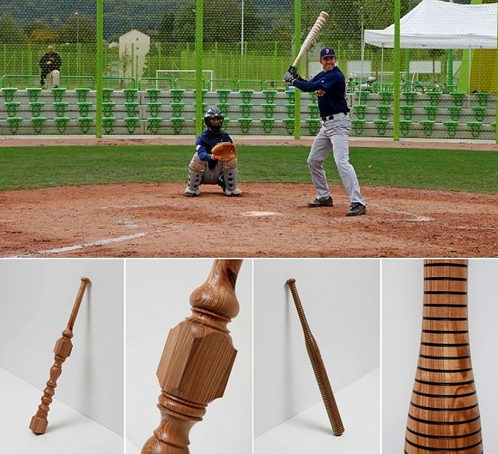Turnaround, серия из 30 художественно оформленных бейсбольных бит
