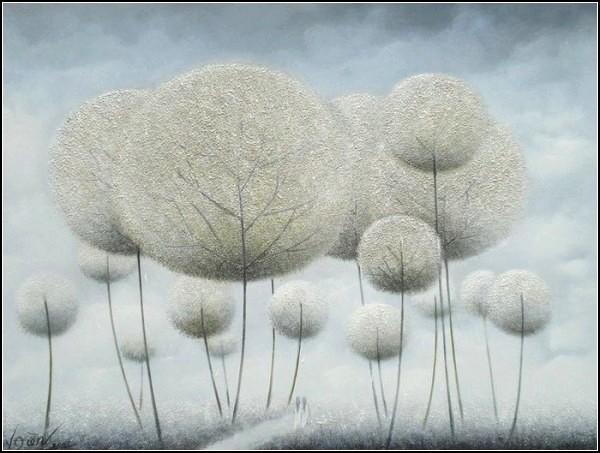 Пушистые деревья в картинах  Vu Cong Dien
