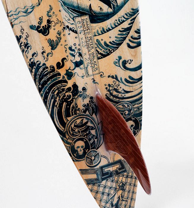 Walker Surfboards. Пирография на досках для серфинга