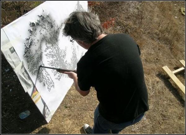 Deweaponizing The Gun. Картины, *нарисованные* из ружья
